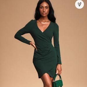 LULU'S - Faux Wrap Bodycon Dress